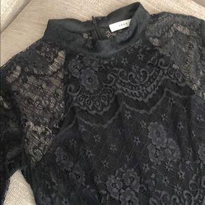 Lush Pants - Lush Express Yourself Black Lace Romper